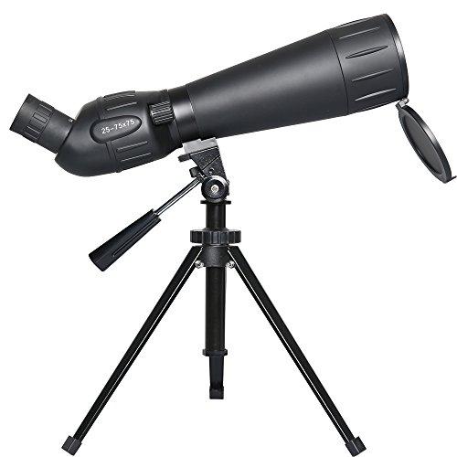 Gskyer Spotting Scope, 25-75x75 Bird Watching Telescope, Target Shooting Monocular