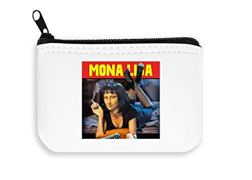 Mia Lisa Pulp Fiction Paroody Zipper Wallet Coin Pocket Purse Portafoglio