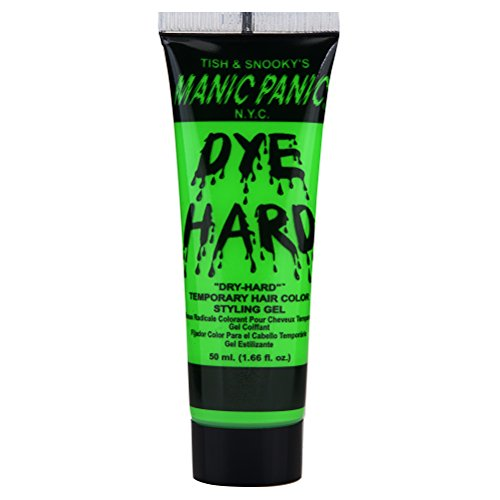 Manic Panic Electric Lizard Green Hair Color Gel - Dye Hard - Temporary Washable, Green Hair Styling Gel for Kids & Adults - Glows Under Black Lights
