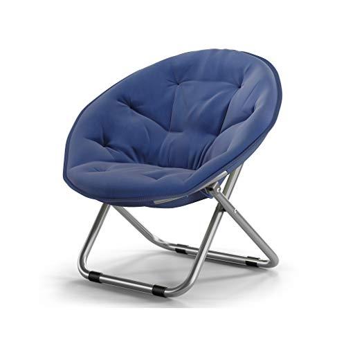 Klappstuhl Faule Couch Computer Sofa Stuhl Wohnzimmer Schlafzimmer Recliner Schlafsaal Stuhl Multifunktions Sofa Kissen (Farbe : Dark Blue)