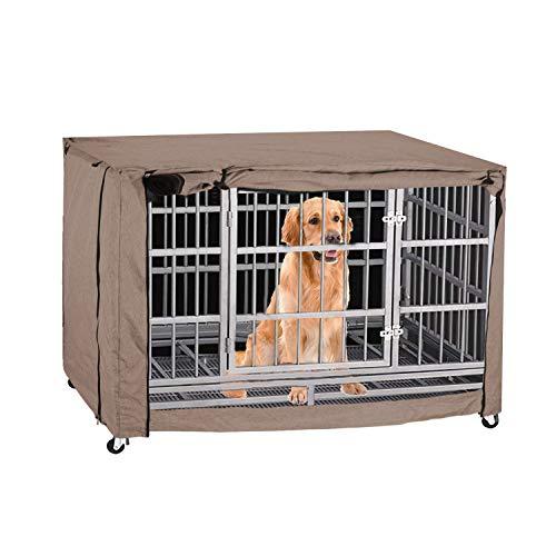 TUYU Funda para jaula de perro para cajas de alambre, resistente al viento y al polvo, para perros grandes (42 pulgadas)