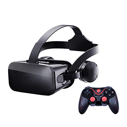 Purchase 3D VR Headset with Controller 3D Glasses Virtual Reality Box with Adjustable Lens and Comfo...