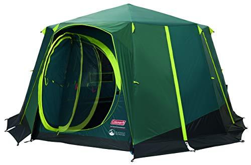 Coleman Octagon 8-persoonstent, black-out tent blokkeert tot 99% van het daglicht, voor een goede nachtrust, afneembare buitentent, waterdicht
