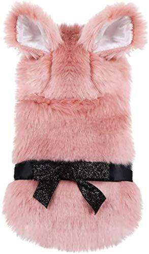 Shade Cloth Ropa Perro Invierno Peluche Oreas Calientes Ropa de Pet Pink Cat Ropa de Navidad Espesar Perros Abrigo Productos for Mascotas SLZFLSSHPK (Color : Pink, Size : X-Large)