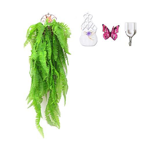 Plantas De Colgar Artificiales, Dos Racimos Greeny Garland Fake Ivy Vine, para Wall Home Porch Garden Boda De La Boda De La Decoración Exterior