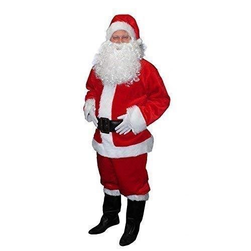 Costume Babbo natale Babbo Natale Claus costume in recentemente Peluche 7 pezzi Tgl L