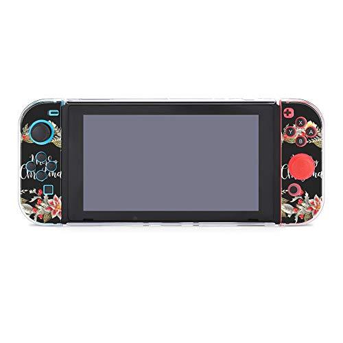 Coque de protection pour Nintendo Switch, couronne de Noël avec slogan durable pour Nintendo Switch et Joy Con