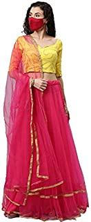 Nena Fashion women's soft net semi-stitched Lehenga Choli