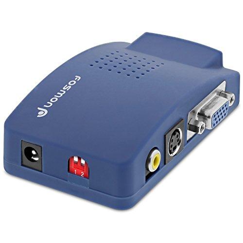 Fosmon HD1882 Adaptador VGA a RCA, Convertidor de Video Compuesto AV S...
