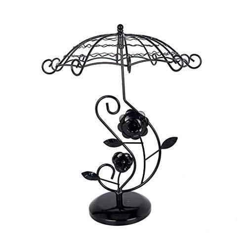 organizador joyas Joyería soporte de exhibición - 3-Tercer giratoria de la joyería del estante de exhibición del árbol, paraguas especial en forma de diseño, visualización de sobremesa Soporte for pen
