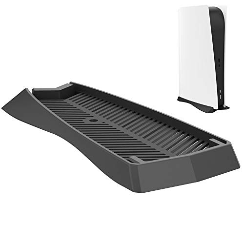CONNYAM Vertical Stand for PS5 Digital Edition, Stand for Sony Playstation 5 DE Console with Built-in Air Vents and Non-Slip Feet