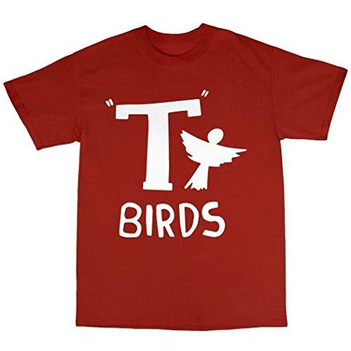 NR LKuBd T-Birds T-Shirt 100% Cotton Grease Danny Zucco John Travolta Olivia Newton John Red