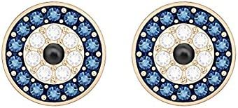SWAROVSKI Luckily Women s Evil Eye Stud Earrings Clear Blue and Black Crystals with a Rose Gold product image
