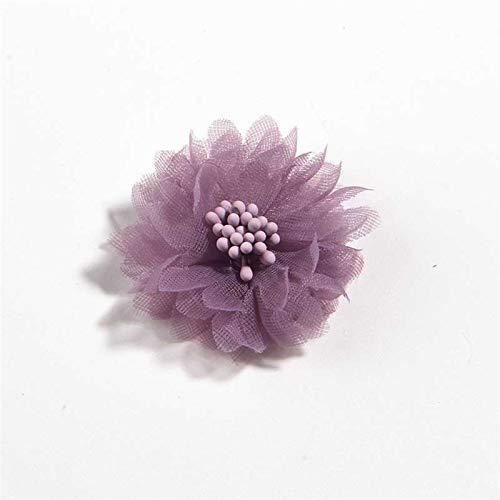 """QIANXIMY Broche 10 unids 4 cm 1.5""""Flower de Tela Artificial para Vestir Ramo de Boda Accesorios de joyería Broche Producción de Ropa Hacienda (Color : Dusty Pink)"""