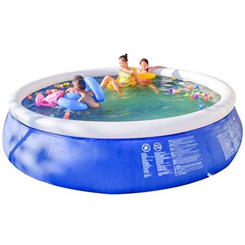 Piscinas al aire libre Centro de gran piscina de niños for adultos Piscina for niños Jardín inflable de la piscina sin necesidad de instalación adecuado for 1-10 personas (Color: azul-B, Tamaño: 13FT)