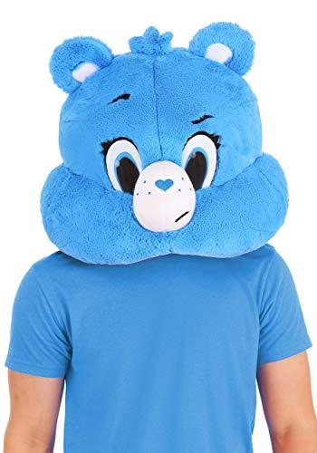 Adult Care Bears Grumpy Bear Mascot Head Standard Blue