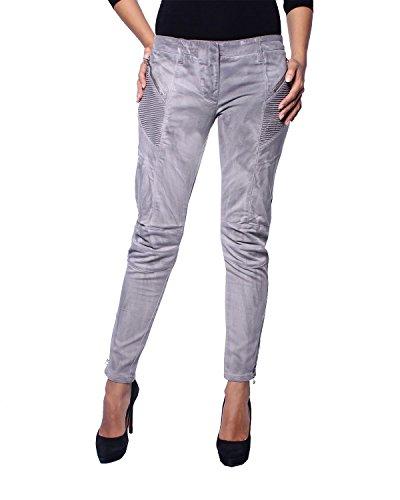 Pierre Balmain - Damen Jeans Skinny Gewaschener Effekt (6M7106/72721/900) - grau, W24 (Herstellergröße: 34)