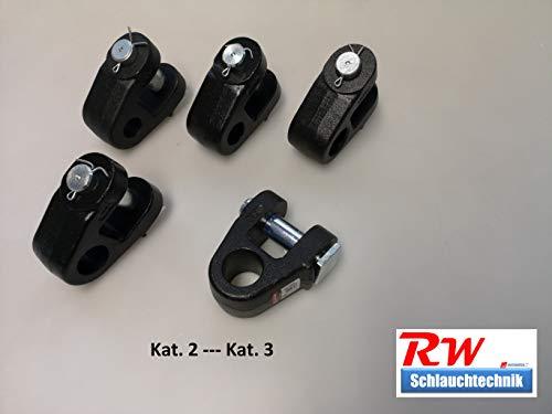 Details zu Gabelkopf für hydraulischen Oberlenker, verschiedene Größen, Kat. 2, Kat. 3 (Gr.3-25mm/32mm)