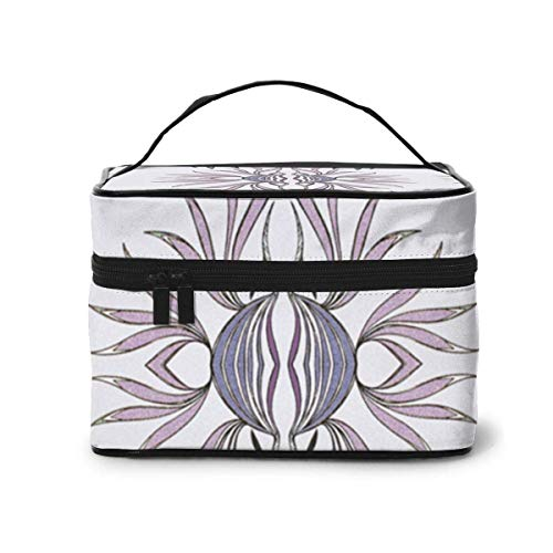 Vanity et Trousses à Maquillage Fire Flower Fabric 6746(6120) Travel Makeup Bag Portable Makeup Boxes for Women Cosmetic Case Storage Organizer Travel Daily Carry