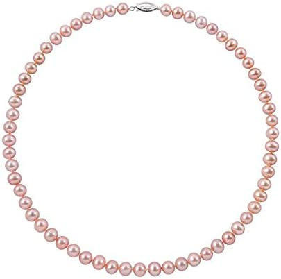 Max 54% Mail order cheap OFF Sterling Silver Natural Pink Cultured Ne Pearl Freshwater Strand