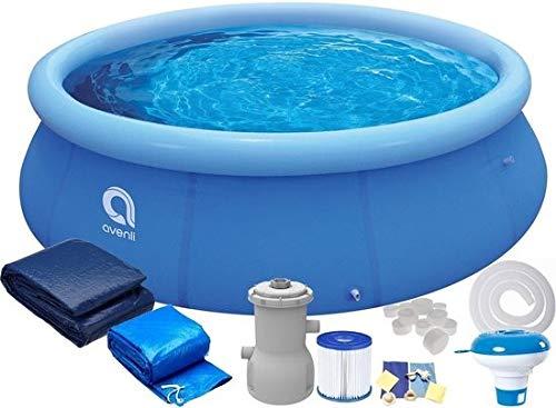Avenli Aufblasbarer Fast Set Pool - 244x63 cm - mit Filter & Pumpe - Blau