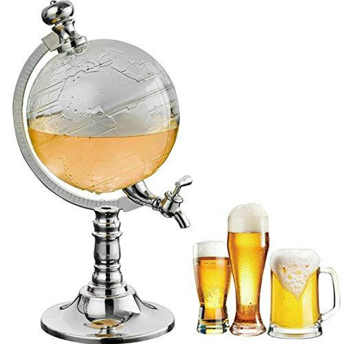 YUNRUX 1500 ml Globus Whiskey Karaffe Glaskaraffe Wein Dekanter Bier Getränke Zapfanlage als Weihnachtsgesch