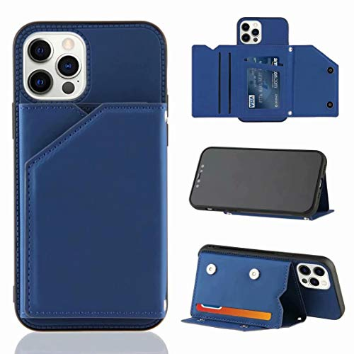 Huawei P30 Lite Case, Shockproof PU Leather Wallet Phone Case Flip Folio Notebook Cover with Credit ID Card Bumper Magnetic Closure Protective Skin Shell for Huawei P30 Lite blue