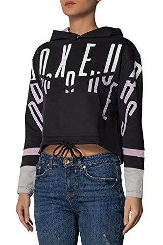 BOXEUR DES RUES - Oversize Hoodie Sweatshirt, Donna, Black, XS