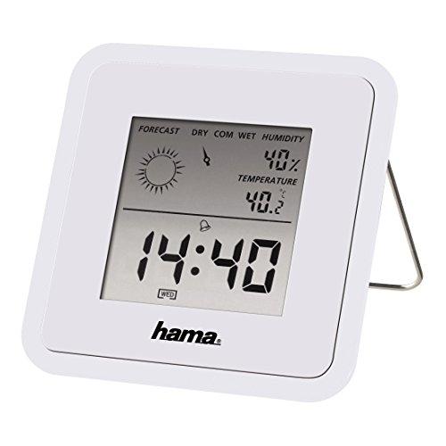 Hama Wetterstation mit Uhr, Wecker und Wettervorhersage, weiß