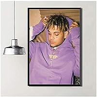 Suuyar スモークパープラップヒップホップラッパースターミュージックウォールアートポスターとプリントリビングルームの装飾用キャンバスに印刷-24X32インチX1フレームレス