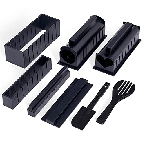 Dąb i stal - kompletny zestaw do samodzielnego wykonania sushi domowy zestaw do robienia sushi - wolny od BPA