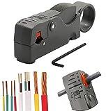 Universale Rotary Cavo Coassiale Stripper Wire Cutter Stripper Strumento Crimpatrice Kit Regolabile Per Flat/Rotonda RG58 / 59/62/6 / 3C2V / 4C / 5C