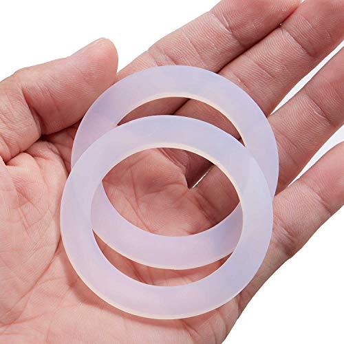 Litorange 8 piezas de repuesto de silicona de grado alimenticio (mejor que el caucho) junta junta anillo para estufa de aluminio cafetera ollas Moka Express DAMA Espresso Bialetti 2 tazas