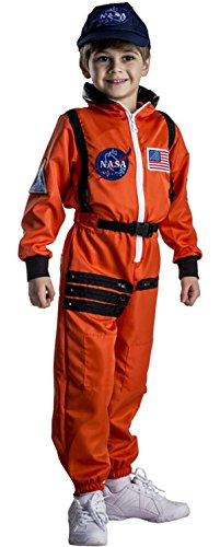 Dress Up America Astronaut Costume for Kids – NASA Orange Spacesuit for Boys & Girls (Medium)
