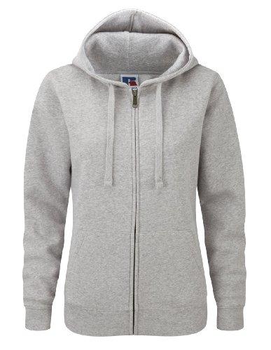 Z266F Damen Authentic Hooded Sweatjacke Sweatshirtjacke Jacke mit Kapuze, Größe:L;Farbe:Light Oxford