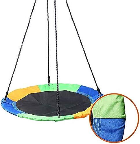 Nestschaukel YXX 150kg Untertasse Baum-Schwingen für Kindererwachsene - Durchmesser 100 cm, verstellbar Nylonseil, Stahlrahmen 900D Oxford Tuch-Abdeckung