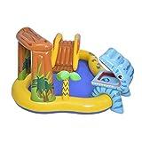 Royoo Centro de juegos hinchable de dinosaurio, piscina hinchable para niños, piscina hinchable, piscina de agua para niños, centro de juego hinchable, tobogán hinchable, piscina divertida para niños
