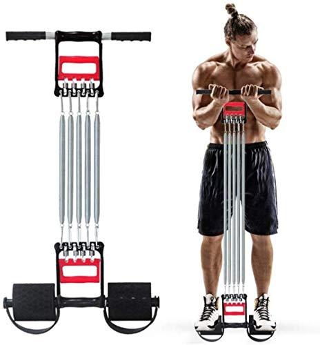 Extensores De Pecho para Fitness Tensores Musculacion - Barras Pull-Up MultifuncióN De Agarre Manual De 5 Tubos Equipo De Gimnasia con Cuerda EláStica Sit Up