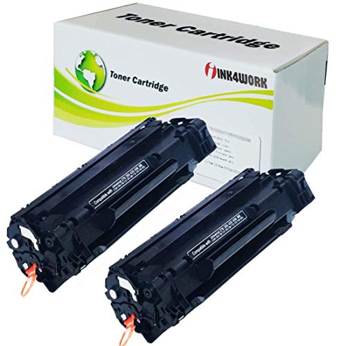 INK4WORK 2 Pack Compatible Replacement for Canon 125 / 3484B001AA Toner Cartridge for use with Canon LBP6000 Imageclass MF3010