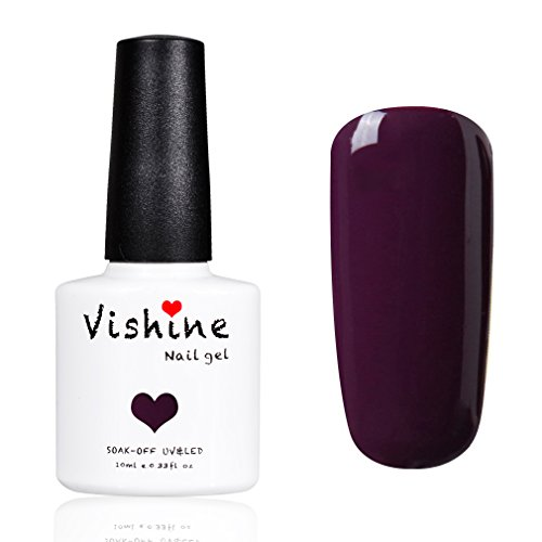 Vishine Vernis à ongles Gel Semi-permanent GelPolish Soak-off UV LED Manucure 10ml Vernis Gels Prune 1417