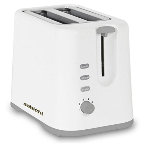Sabichi 2 Slice Reheat Defrost Browning Control Bread Toaster With Crumb Tray