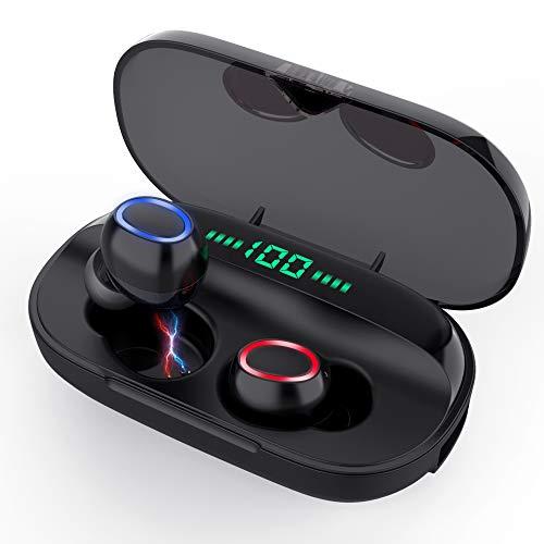 Bluetooth Kopfhörer in Ear, Sport Kabellos Kopfhörer Bluetooth 5.0 Sport Headset mit 3000mAh Ladebox und Mikrofon IPX6 Wasserdicht Noise Cancelling Ohrhörer für iPhone und Android