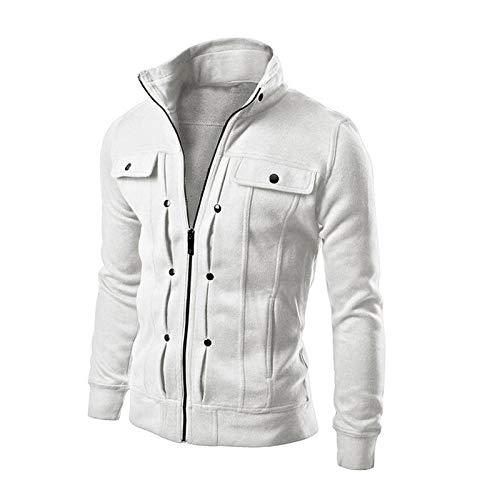 GQDP Jacke Outdoor Casual Herrenmäntel Mode Reißverschluss Strickjacke Mehrfarbige optionale Oberbekleidung