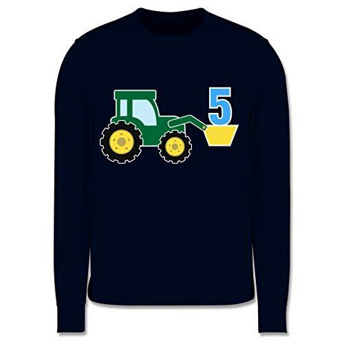 Shirtracer Geburtstag Kind - 5. Geburtstag Traktor - 140 (9/11 Jahre) - Navy Blau - 3. Geburtstag Pullover - JH030K - Kinder Pullover