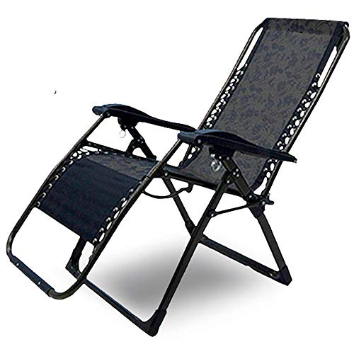 HJKH Silla de Cubierta Camastros Asiento Ajustable reclinable Silla del Patio con la Almohadilla Silla Plegable de Cubierta al Aire Libre (Color : As Shown, Size : 180cm)