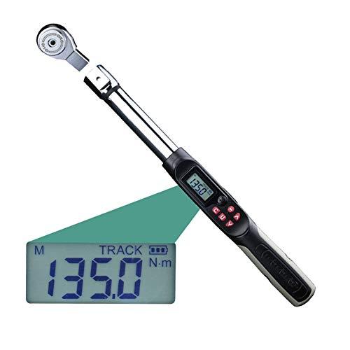 High Precision Digital Drehmomentschlüssel, 1-340N.M höhenverstellbare Montage Professional elektronische Digital Drehmomentschlüssel,1/4in1.5to30N.m