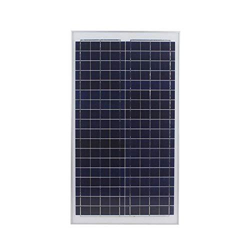 Wgwioo Kit De Panel Solar, Kit De Panel Solar Monocristalino Fuera De La Red De 30W, Kit De Inicio De Panel Solar, para Barcos, Caravanas, RV Y Otras Aplicaciones Fuera De La Red