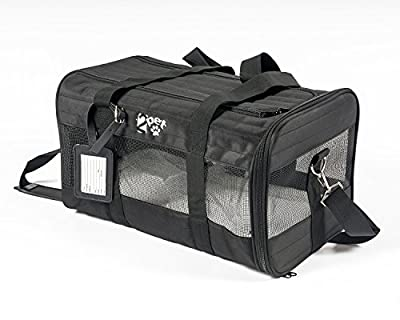 2PET Airline Pet Carrier Under Seat - Perfect Soft Sided Pet Kennel for Small Dogs and Cats - Mesh windows for Excellent Ventilation and Comfort - Dual Access Doors - Strong Built - Major Airlines