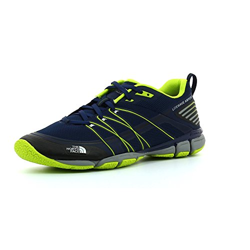 The North Face M Litewave Ampere, Zapatillas de Deporte Exterior Hombre, Azul (Cosmic Blue/Lantern Green), 40