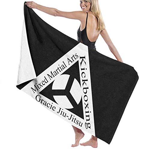 XCNGG Toalla de playa de microfibra con logotipo de Gracie Jiu Jitsu Academy, toalla de viaje portátil, toallas de baño corporales ligeras de secado rápido, manta de playa para ducha, toalla sin arena